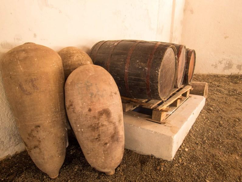Wine barrels in El Catador in Pisco Peru