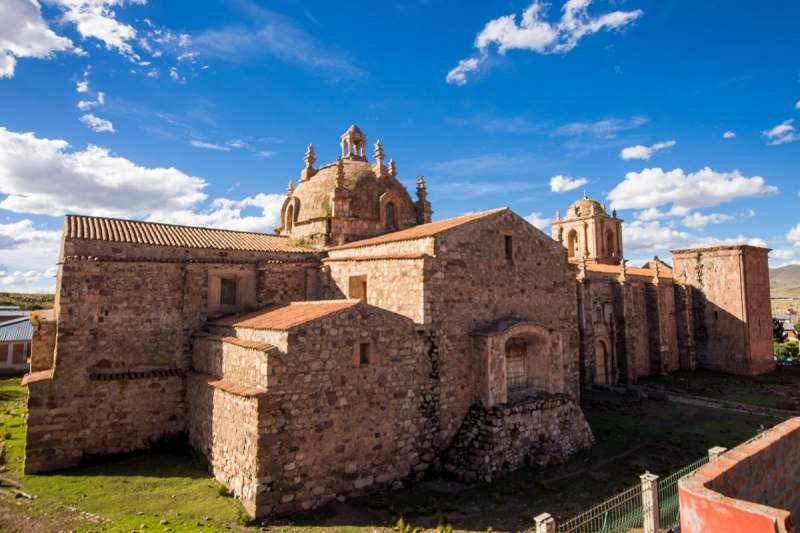 Church of Pukara in Pucara Peru with kids on a 14 day Peru itinerary
