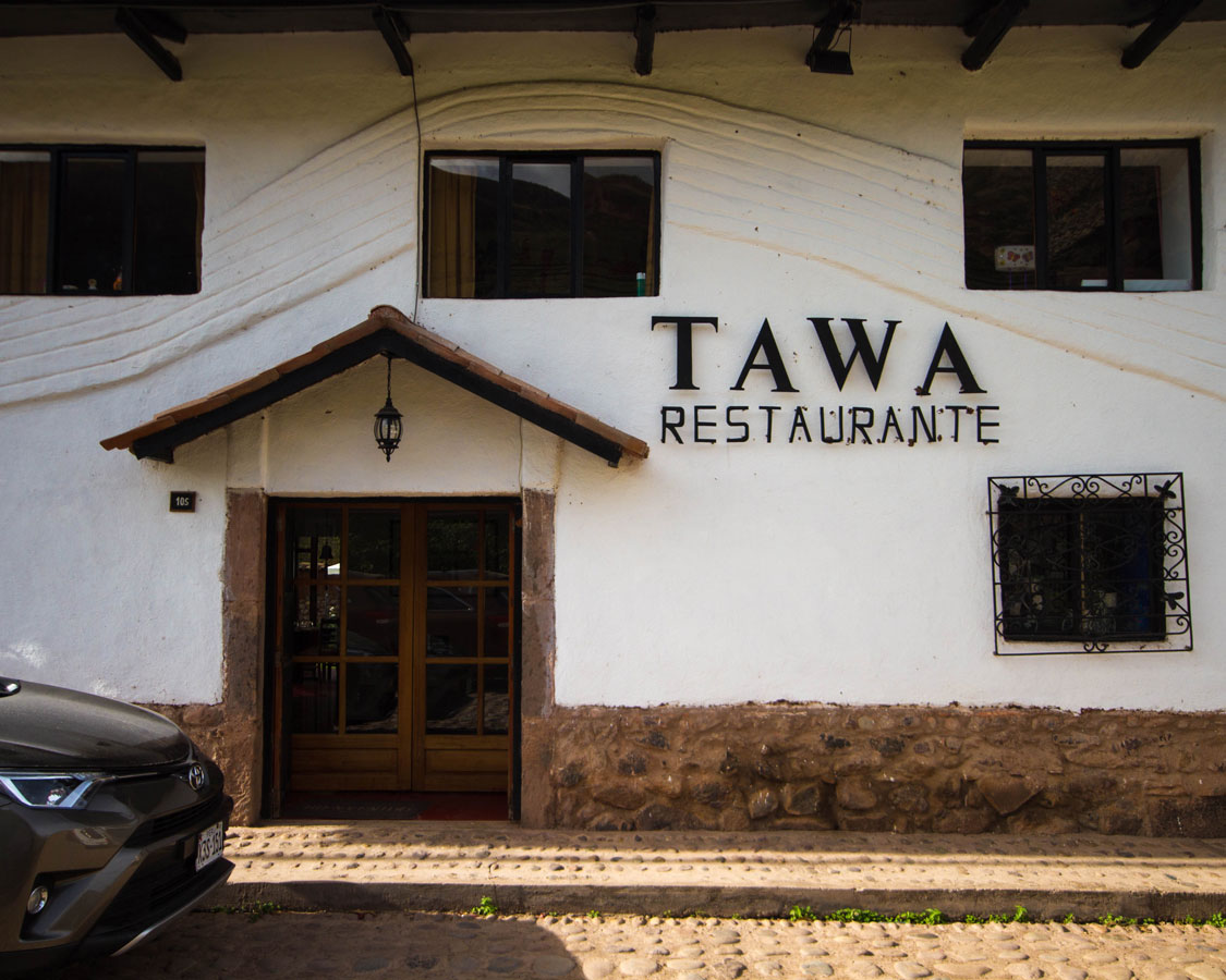 Delicious lunch at Tawa Restaurant in Urubamba Peru with kids on a 14 day Peru itinerary