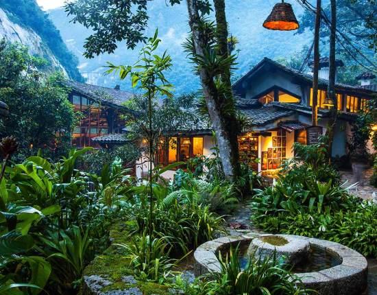 Gardens of the InkaTerra Machu Picchu Pueblo hotel in Peru