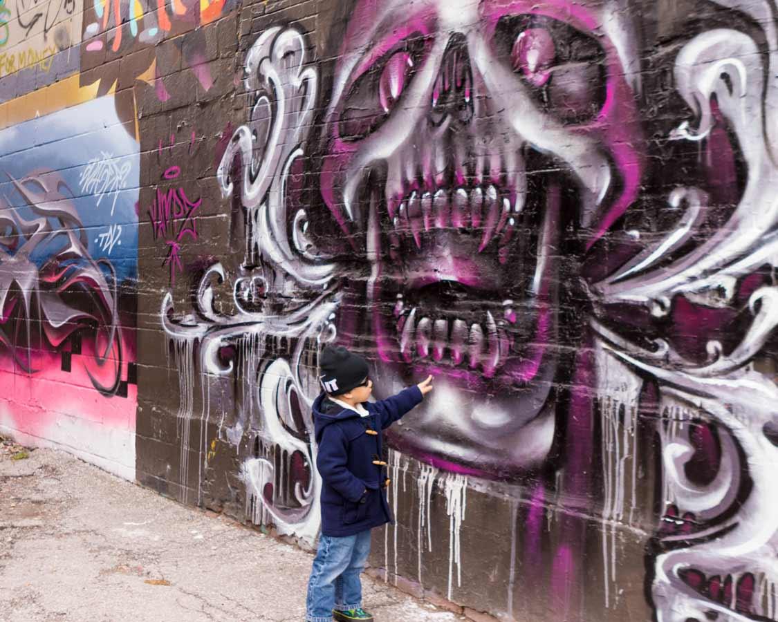 Street art in Kensington Market Toronto Food Tour