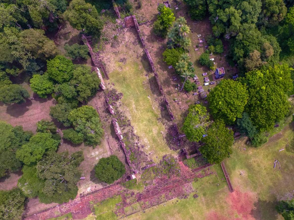 Drone photography of the Santa Anna Jesuit Ruins in Misiones Argentina