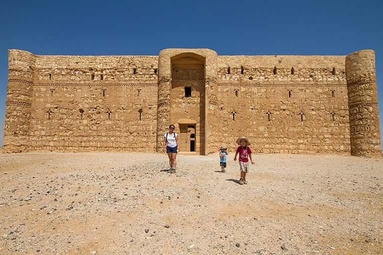 Desert castles in Jordan with kids