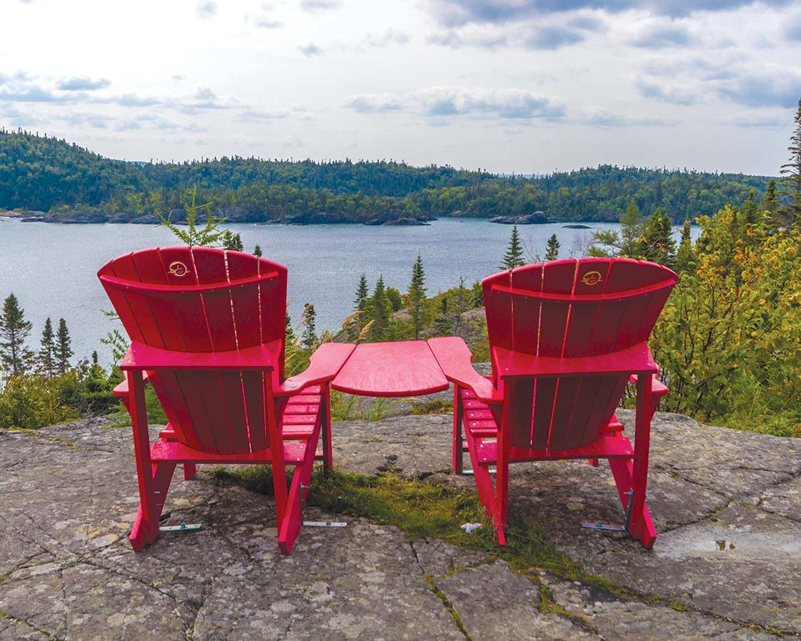 Canada National Park Red Chairs