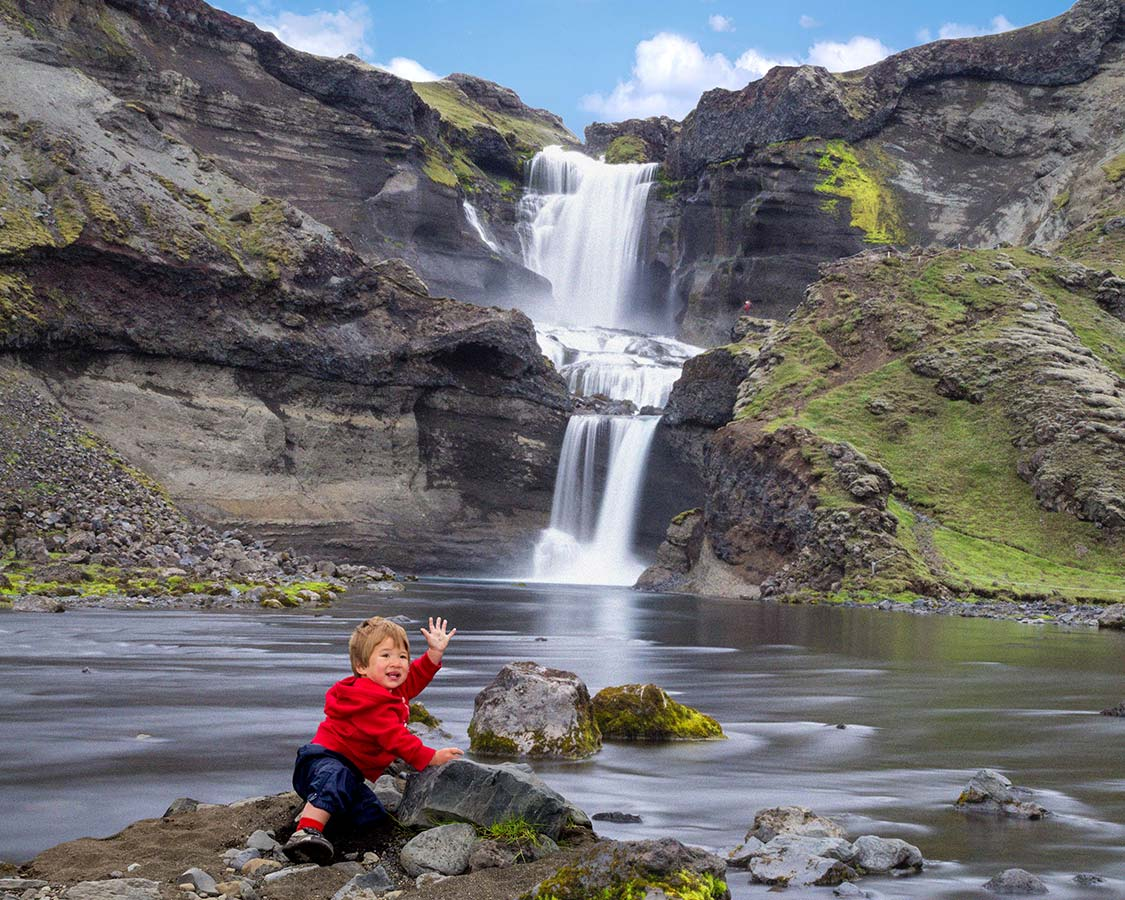 Iceland With Kids-Waterfalls in Iceland