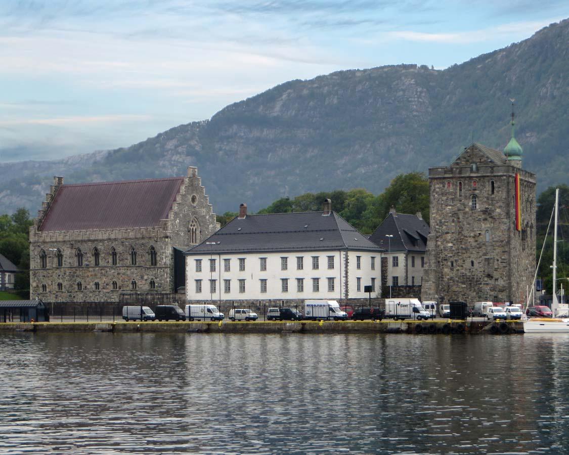 Bergenhus Fortress in Bergen Norway