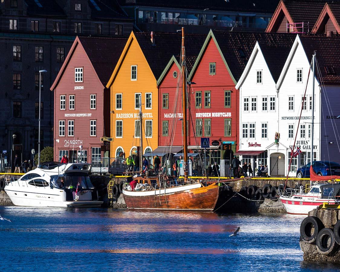 Things to do in Bergen Norway Bryggen Wharf in Bergen Norway