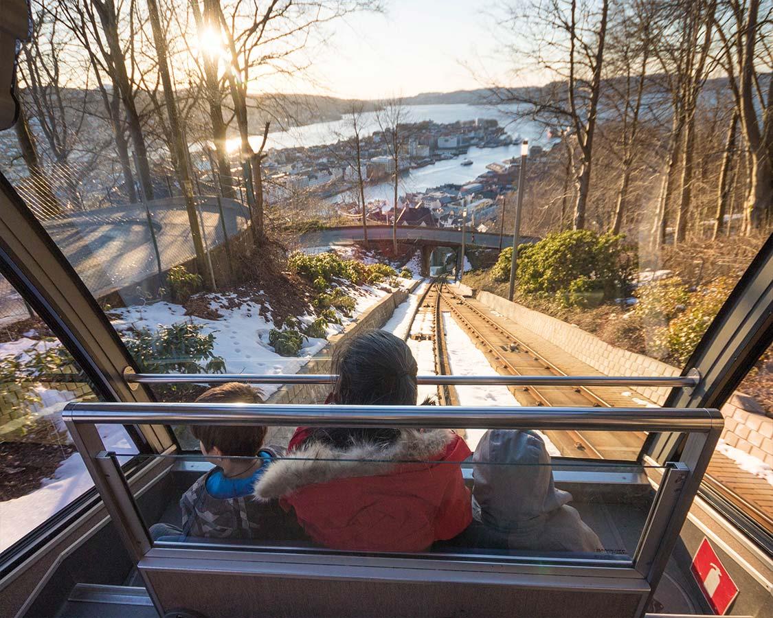 Floibanen Funicular in Bergen Norway