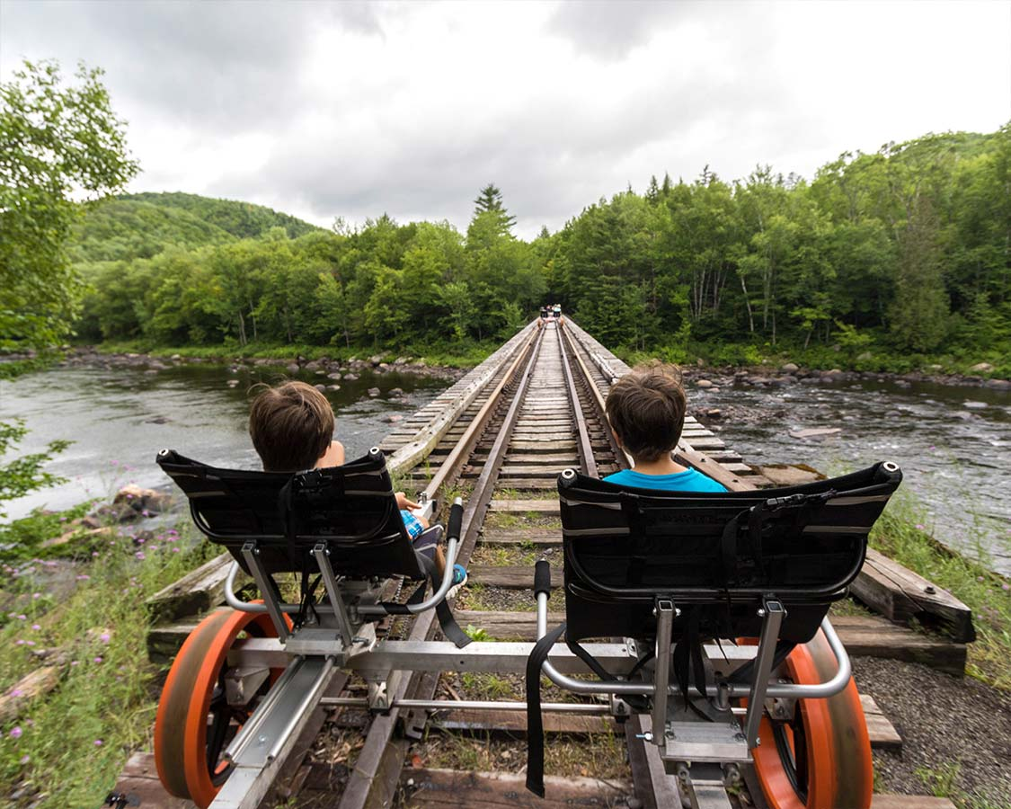 Rail Biking Adirondacks Over The Hudson River