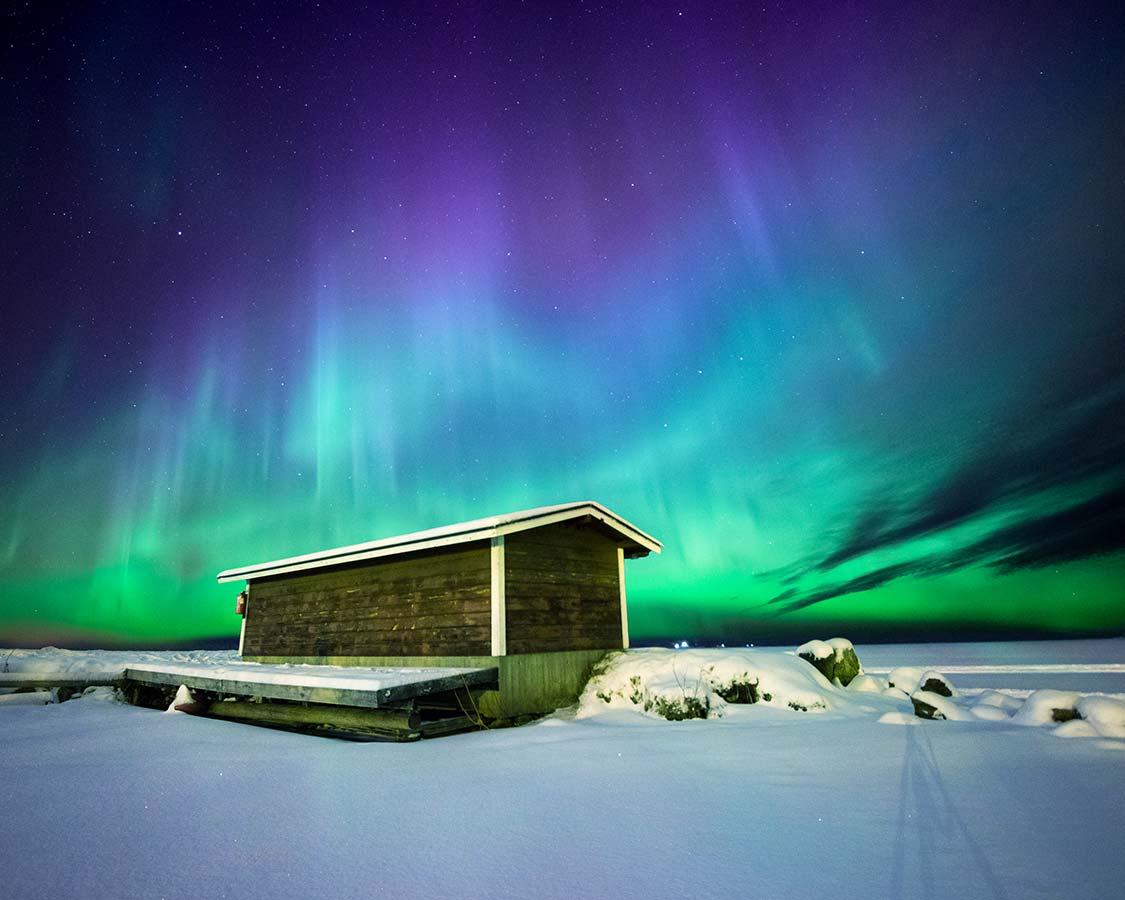 Christmas In Lapland Finland Northern Lights In Saariselka Inari