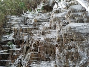 icicles on rocks, joys of late winter hike