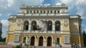 120 Jahre alt, das Stadttheater von Nischni Novgorod. Oper und Konzert, sowie Balettsäle gibts hier auch noch in großer Fülle.