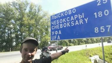 Na wo gehts denn nun lang? Bis Лысково (Lyskowo) will ich es heute noch schaffen....puuhh, 15 km sind schon geschafft, noch 25 mehr ...