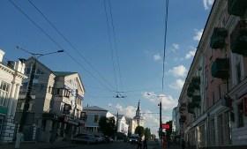 Stadteindrücke am Nachmittag in Cheboksary.