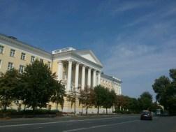 Beliebt in allen Russischen Metropolen, die Nachbildungen klassizistischer Säulenbauten.