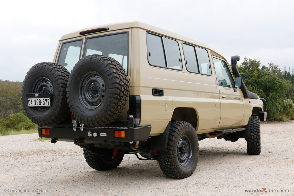 Our Land Cruiser Troop Carrier with ARB Bull Bar, Safari Snorkel, and Other basic off-road modifications