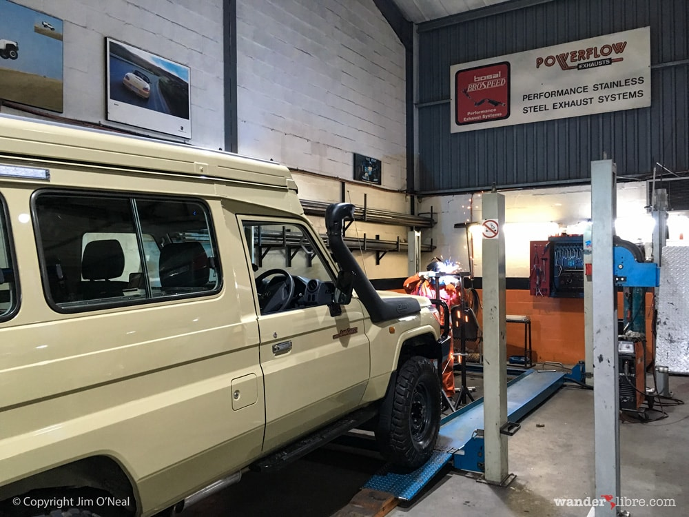Modifying the Exhaust to Create Room for Stainless Steel Water Tank
