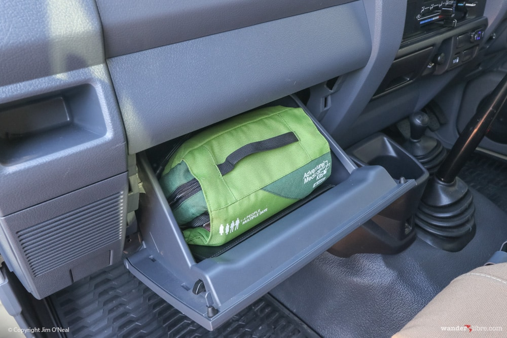 First Aid Kit Stowed in Glove Compartment