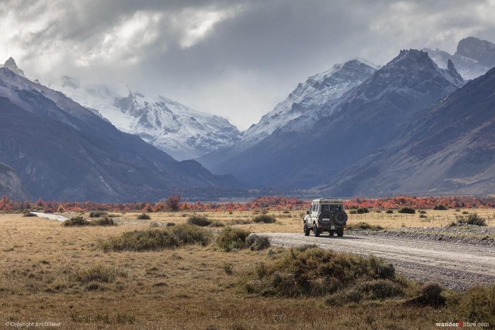 Land Cruiser Troopy Camper in El Chalten, Argentina