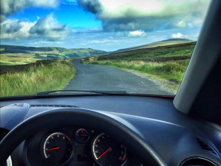 Driving through the Wicklow Mountains