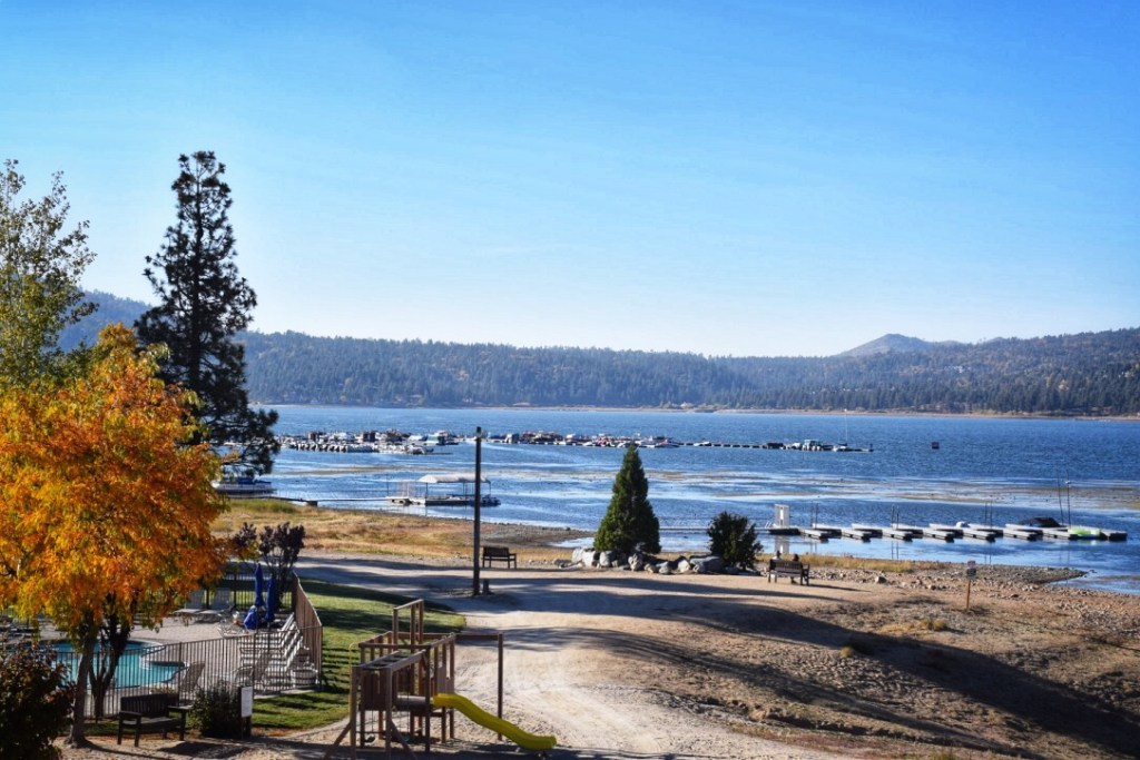 The view from Marina Resort Big Bear Lake California
