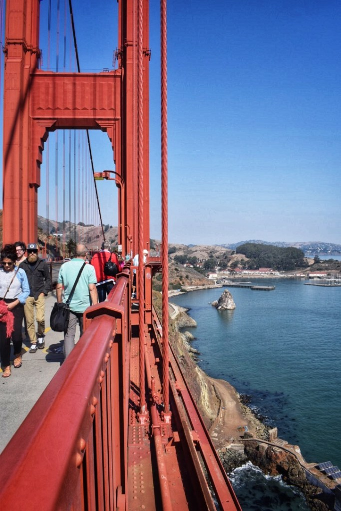 walking the Golden Gate bridge