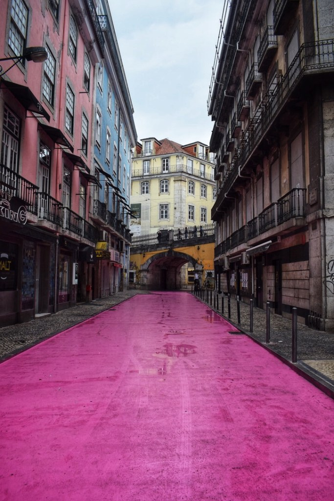 The pink street one of the most instagrammable places in Lisbon