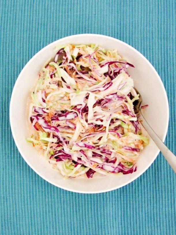 coleslaw with vinegar lime dressing
