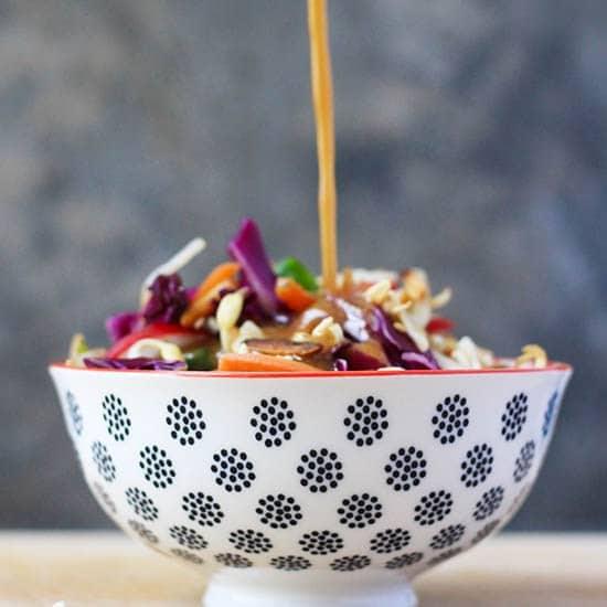 easy asian slaw with ramen