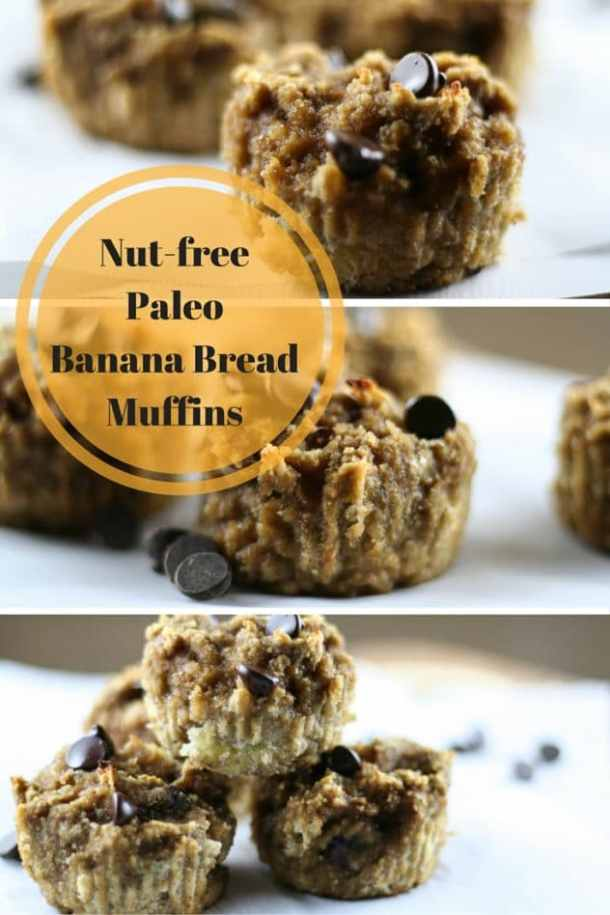 nut free banana bread muffins
