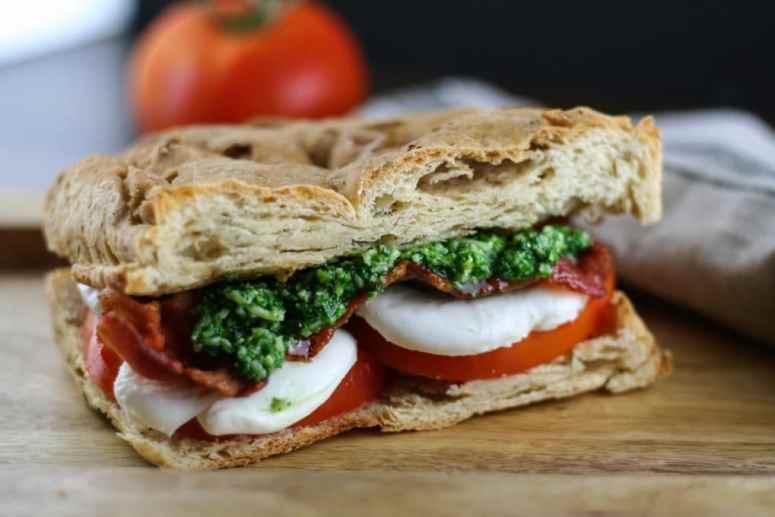 gluten free caprese BLT