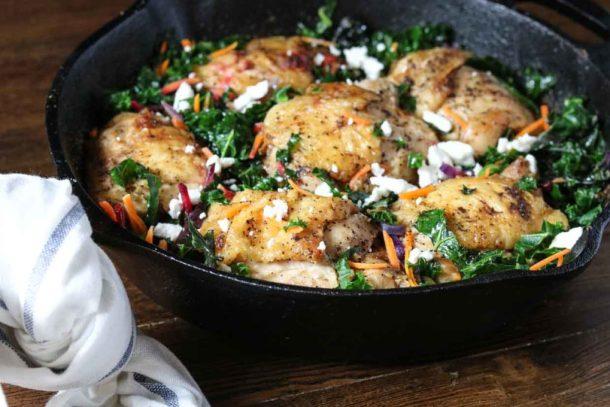 crackling-chicken-braised-greens