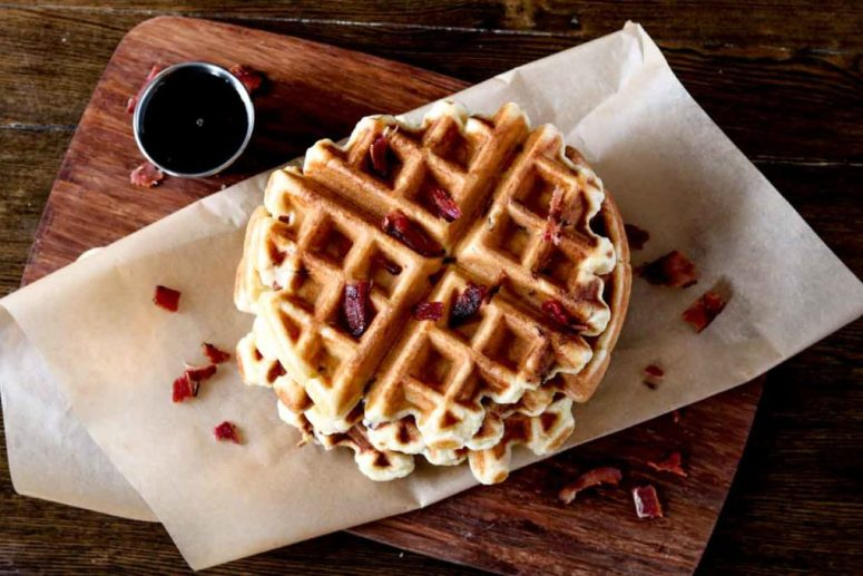 paleo-bacon-waffle