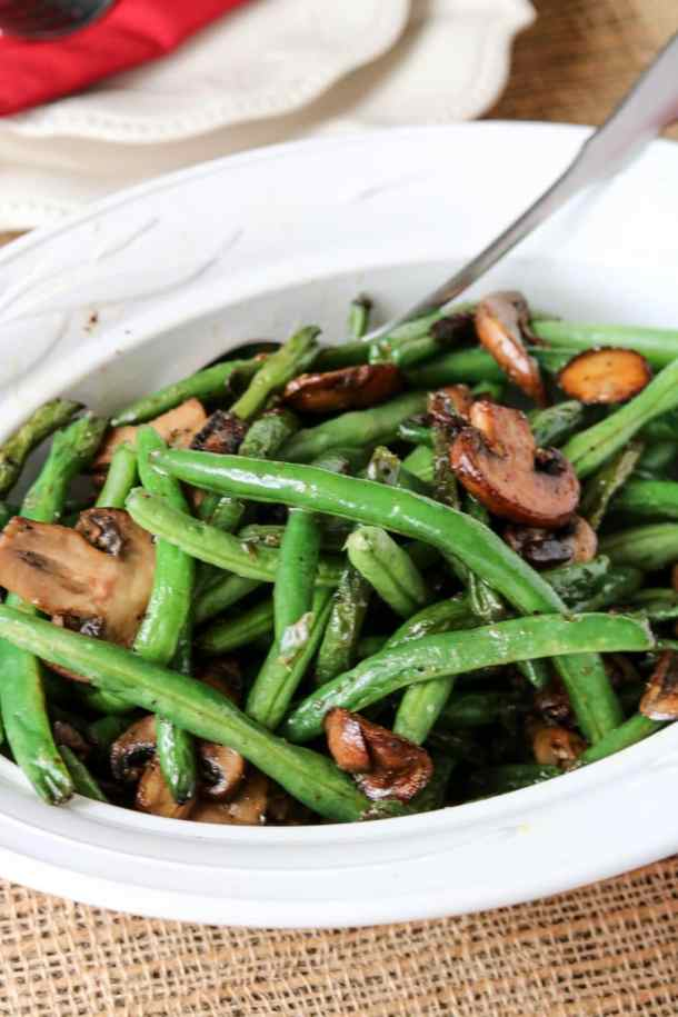 Sautéed Green Beans and Mushrooms
