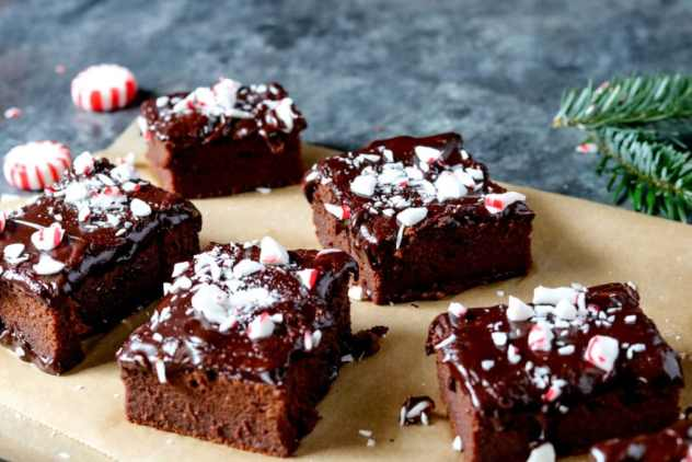 Peppermint Sweet Potato brownies