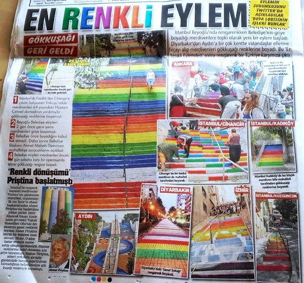 News articles about the Rainbow Steps in Istanbul