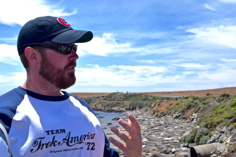 Trek America tour guide Darin