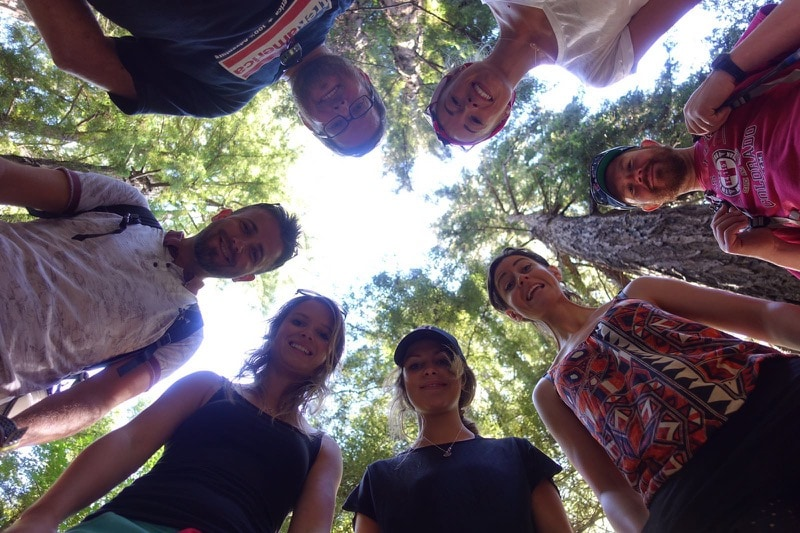 iTrekHere group in the forest