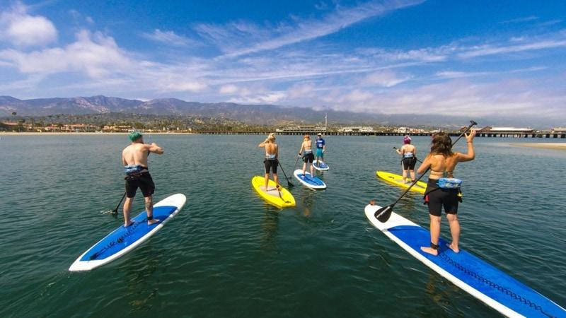 Paddleboarding in Santa Barbara