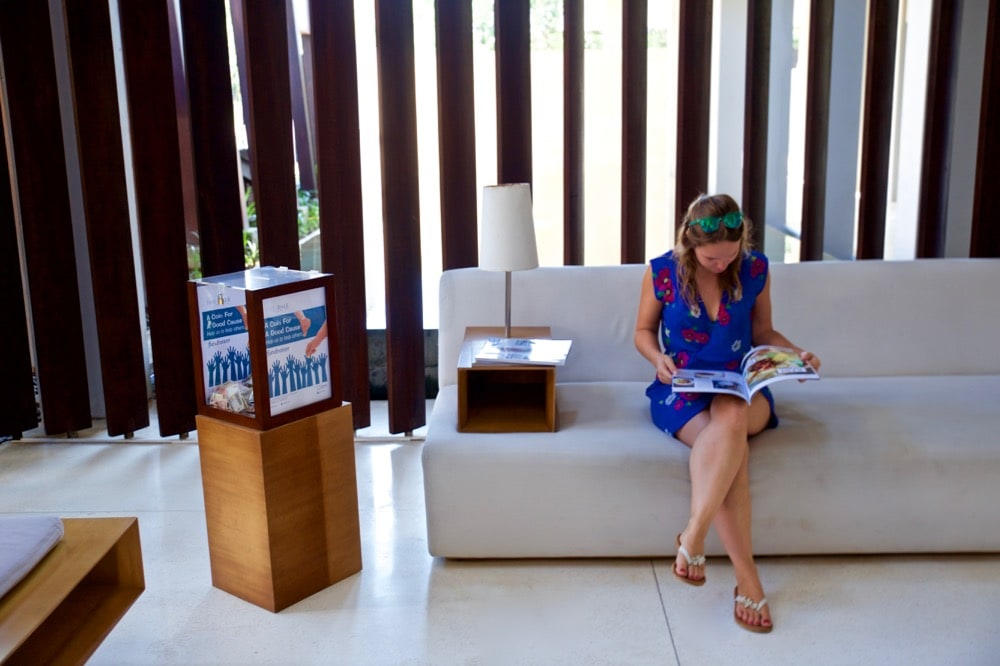 Checking in at The Bale, Nusa Dua, Bali