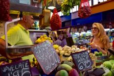 Fruit and vegetables for sale at Mercado Central de Atarazanas, Malaga, Spain