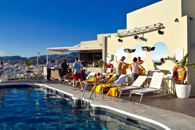 Rooftop pool at the AC Hotel Malaga Palacio
