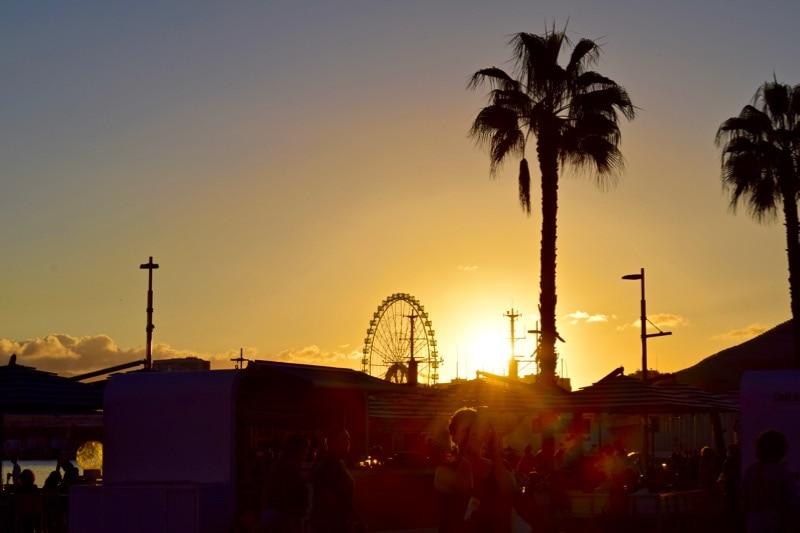 Sunset in Malaga, Spain