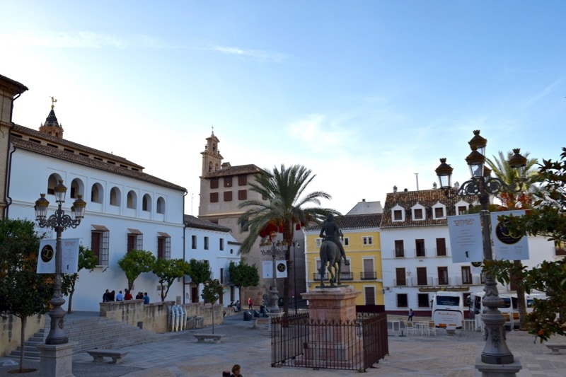 A plaza in Antequera, Spain