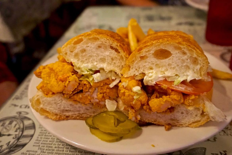 Shrimp po' boy in New Orleans