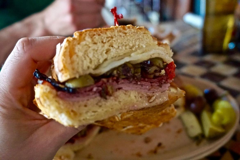 Mufuletta sandwich at Napoleon House Restaurant, New Orleans