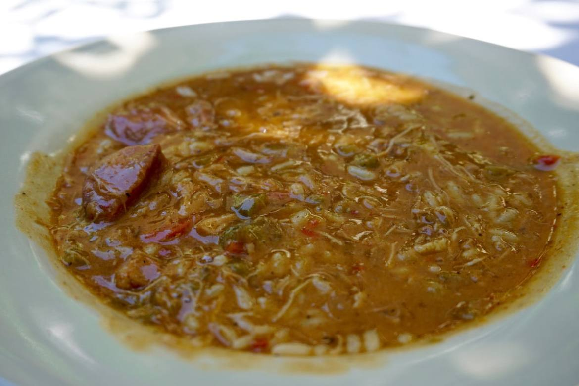 Gumbo at Cafe Amelie, New Orleans