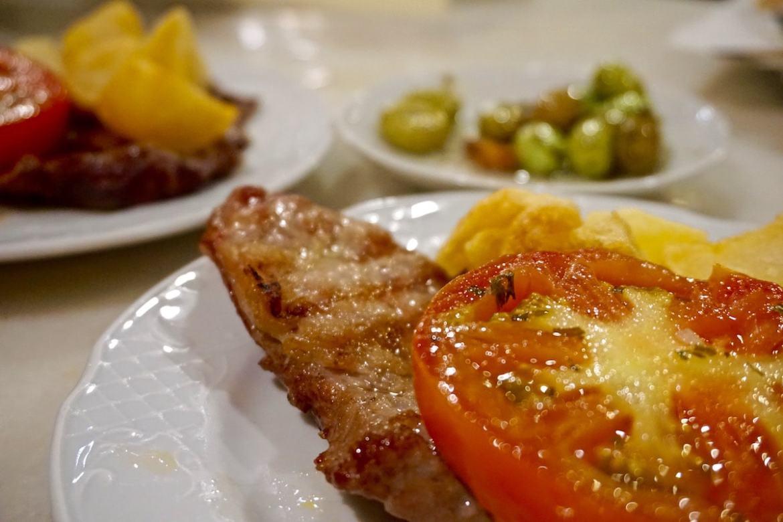 Pork at Mesón Cumbres Mayores, Cadiz