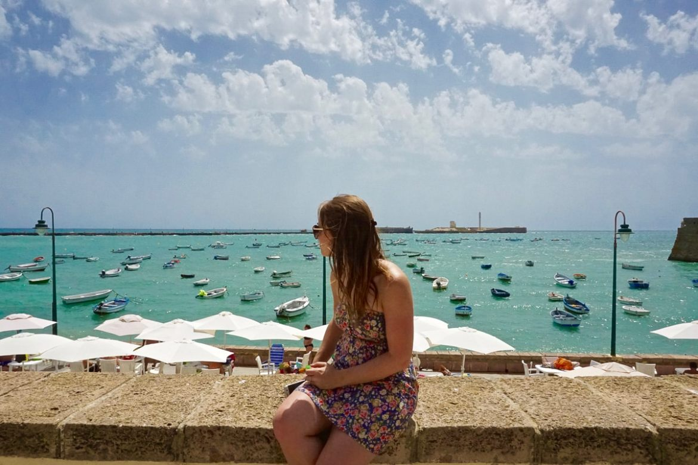 Enjoying the beautiful views of Cadiz