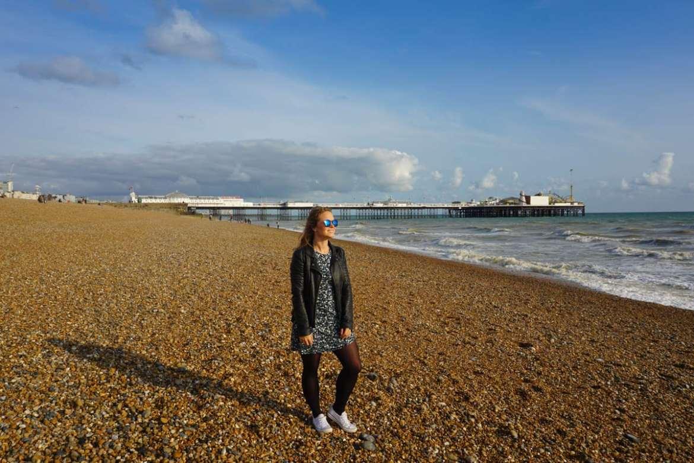 Enjoying Brighton Beach